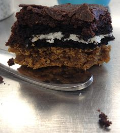 Holy threesome Desert? Cookie, cookie, brownie? or Brownie, cookie, cookie? I forget