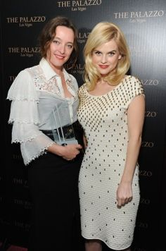 Alice Temperley, with the Designer of the Year Award, and Alice Eve at the 2011 Hollywood Style Awards.  Alice Eve wearing Wanda Beaded Dress from Temperley London Spring Summer 2012 collection.