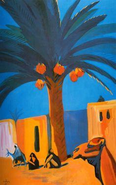 Martiros Saryan - Date Palm, 1911 Middle Eastern Art, Painter Artist, Acrylic Painting Tutorials, Color Studies, Impressionism Art, Urban Sketching, Russian Art, Cool Artwork, Ceramic Art