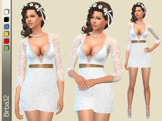 Birba32's Wedding short dress – Sims 4 Updates -♦- Sims 4 Finds & Sims 4 Must Haves -♦- Free Sims 4 Downloads