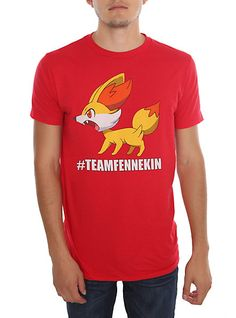 Pokemon #TEAMFENNEKIN Slim-Fit T-Shirt   Hot Topic