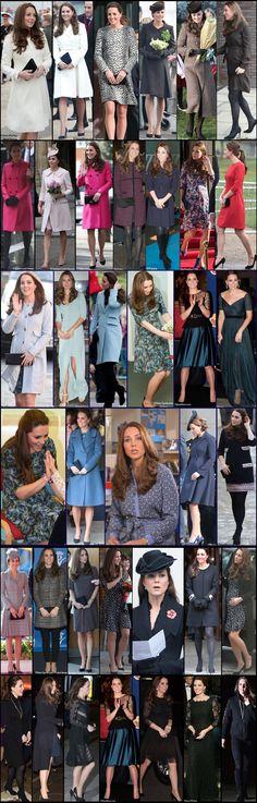 Kate pregnancy Maternity Wardrobe Wrapup Massive Giant Collage April 2015