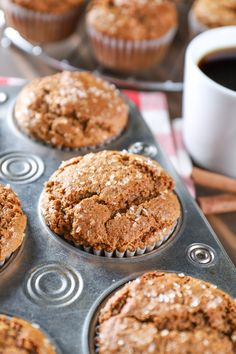 Low Unwanted Fat Cooking For Weightloss Bakery Style Gingerbread Muffins Recipe From A Kitchen Addiction Bakery Recipes, Dessert Recipes, Cooking Recipes, Bread Recipes, Kitchen Recipes, Breakfast Recipes, Holiday Baking, Christmas Baking, Italian Christmas