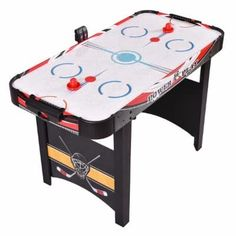 Brilliant Air Hockey Table 48 Inch Powered Electronic Indoor Game Room Kids Funny Play Sporting Goods Air Hockey
