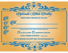 rsvp for wedding invitation.