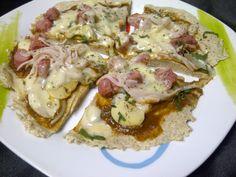 Pizza de 300 calorias: Baja en Carbohidratos y Grasas Skinny Lunch, Diet Recipes, Healthy Recipes, Healthy Food, Empanadas, Potato Salad, Food Porn, Low Carb, Tasty