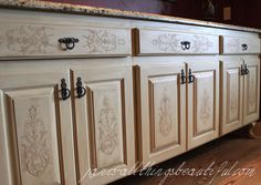Do you have a built-in cabinet that you'd like to dress up or a piece of furniture in need of a makeover?  Try this easy technique--embossing with a stencil and…