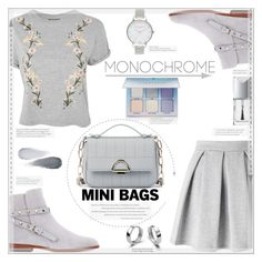 """""""Mini Bags"""" by suzanne228 ❤ liked on Polyvore featuring Miss Selfridge, Valentino, Topshop, Sole Society, Christian Dior, Clé de Peau Beauté, Olivia Burton and Anastasia Beverly Hills"""