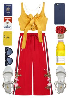 """""""☺"""" by alxmee ❤ liked on Polyvore featuring Gucci, MARA, Carshoe, Karen Walker, The French Bee and Charlotte Russe"""