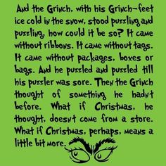 The Grinch...