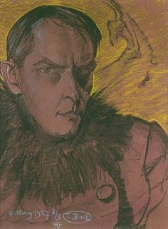 Stanisław Ignacy Witkiewicz (Witkacy), Karol Szymanowski's Portrait, pastels on paper, photo: from the collection of the National Museum in Kraków Selfies, Portraits, Portrait Paintings, National Museum, Famous Artists, In This World, Cool Art, Illustration Art, Illustrations