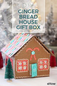 Sometimes gift boxes can be more fun than the actual present inside! This gingerbread-themed gift box can be repurposed as a dollhouse, decoration, or you can even use it for storage. A sweet idea, indeed!