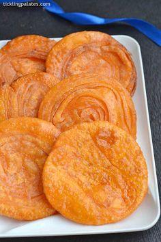Badam Puri recipe with step by step photos. Badam puri is a Kannada sweet most popular in Karnataka made during festivals like Diwali, Navratri Indian Dessert Recipes, Indian Sweets, Indian Snacks, Sweets Recipes, Cooking Recipes, Recipes Dinner, Indian Recipes, Kitchen Recipes, Cake Recipes