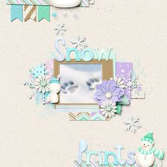 Layout created with Snow Flurries a digital scrapbook kit by River~Rose Designs