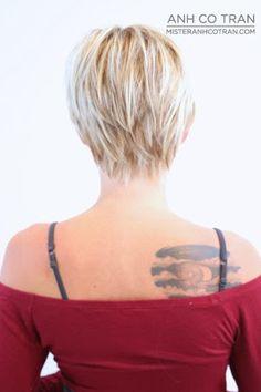 Mister AnhCoTran: LOS ANGELES: SEXY & CUTE ASYMMETRICAL LONG PIXIE