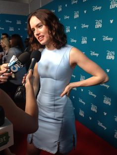 #StarWarsTheForceAwakens' Daisy Ridley at #D23Expo