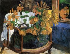 Sunflowers in a Chair 1901 Oil on canvas, 72 x 91 cm The Hermitage, St. Petersburg