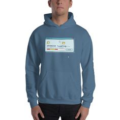 SPANISH Loading Unisex Hoodie – IKENNA Learning Spanish, Unisex, Hoodies, Learn Spanish, Sweatshirts, Study Spanish, Parka, Hoodie, Hooded Sweatshirts