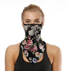 PBC Neck Gaiters with Ear Loop Balaclavas Face Mask Headband Bandana with Filters