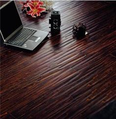 Want this Black Brushed handscraped bamboo flooring for my kitchen...