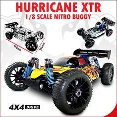 Hurricane XTR, 1/8 Scale Nitro Buggy.  Vroom