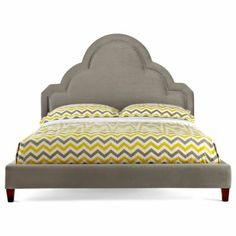 Happy Chic by Jonathan Adler Crescent Heights Velvet Upholstered Headboard