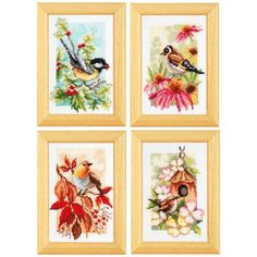 Four Seasons Counted Cross-Stitch Kit - Herrschners
