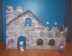 Along with repairs, Curt has had some fun with our putty over the years. He made the pictured Smurf castle for his son in the 1980s, and his grandchildren now play with it. He covered plywood with Rock Hard Water Putty, sanded, shaped and painted it to look like stone. Great work, Curt, and thanks for sharing!