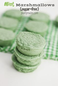 St. Patty's day inspired green mint marshmallows {sugar-free} #gut #gf #grainfree perfect low calorie sweet to enjoy all day long!