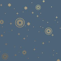 """Stardust Art Deco Design Wallpaper in Midnight 
