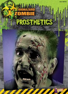 Biohazard Zombie Costume Makeup Facial Prosthetics