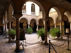 Spain Andalucia Seville Palace of the Countess of Lebrija