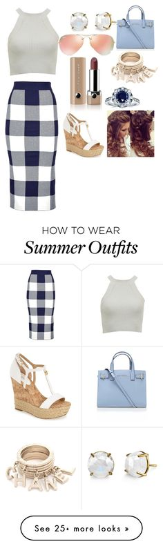 """""""summer outfit"""" by dreambug20 on Polyvore featuring Whistles, Kurt Geiger, Ray-Ban, Marc Jacobs, Kobelli, MICHAEL Michael Kors, women's clothing, women, female and woman"""