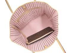 Louis Vuitton Never Full Bag Pink Interior