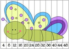 free This is a set of nine skip counting puzzles. These puzzles skip count by 2s, 3s, 4s, 5s, 6s, 7s, 8s, 9s, and 10s. This has made a great math center in my own classroom.