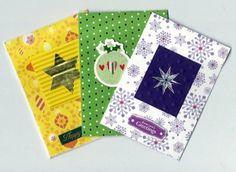 set of 3 mini christmas cards