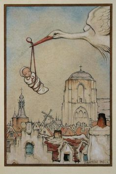 Anton Pieck - Home Design Sweet Baby Ray, Anton Pieck, Illustrator, Dutch Painters, Dutch Artists, Children's Book Illustration, Book Illustrations, Vintage Cards, Fairy Tales