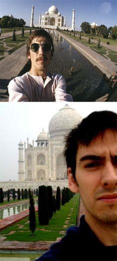 ♥♥♥♥George H. Harrison♥♥♥♥  ♥♥Dhani Harrison♥♥  George Harrison, India, 1966. Dhani Harrison, India, a couple of years ago.