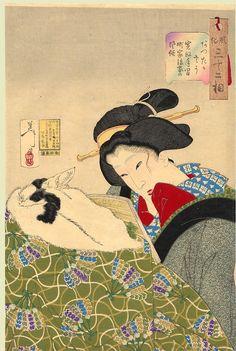 "JAPAN PRINT GALLERY: ""Looking Warm"" by Yoshitoshi, 1888"