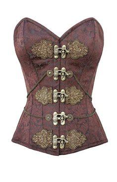 Bronzed age sweetheart corset