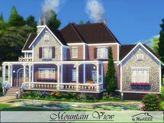 Mountain View is a very cozy home built on 40x30 lot in Granite Falls.  Found in TSR Category 'Sims 4 Residential Lots'