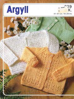 baby matinee cardigan  vintage knitting pattern PDF instant download