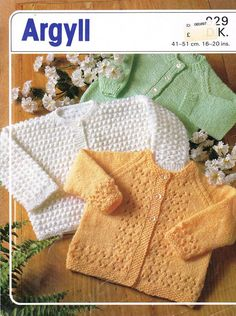 baby matinee cardigan  vintage knitting pattern PDF instant download