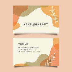 Pastel-colored stains abstract business ... | Free Vector #Freepik #freevector #business #abstract #card #template Web Design, Slide Design, Book Design, Cover Design, Layout Design, Design Trends, Business Card Design, Business Cards, Business Branding