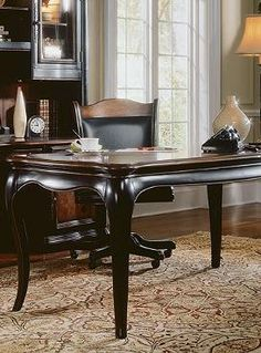 As elegant as it is functional, the Renee Writing Desk is the perfect office addition that provides you with an ample, sturdy surface to accomplish your important tasks.