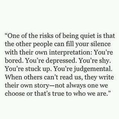 { introvert } The risk.
