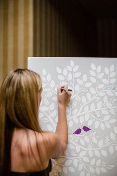 "Poster-sized tree ""guest book"" that the newlyweds can hang in their home"