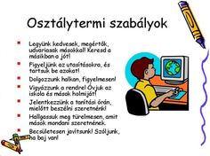 ISKOLAI ÉS OSZTÁLY SZABÁLYAINK, ÍGÉRETEINK - webtanitoneni.lapunk.hu Classroom Rules, Classroom Organization, Classroom Decor, Classroom Management, Youth Ministry, Manners, Games For Kids, Kids Learning, Back To School