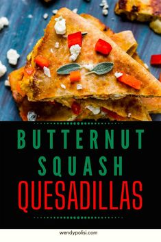 Butternut squash may sound like an unusual addition to a recipe, but trust me, you need these Butternut Squash Quesadillas in your life!  With punchy blue cheese,  red pepper, garlic, and onion, this is a simple vegetarian dinner that will fuel your body and feed your soul. Gluten Free Recipes For Breakfast, Healthy Gluten Free Recipes, Gluten Free Dinner, Vegetarian Recipes, High Protein Low Carb, High Protein Recipes, Protein Foods, Healthy Meats, Easy Vegetarian Dinner