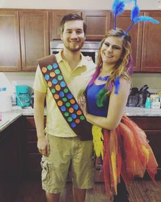 Couples Halloween Costume: Russel and Kevin from Up
